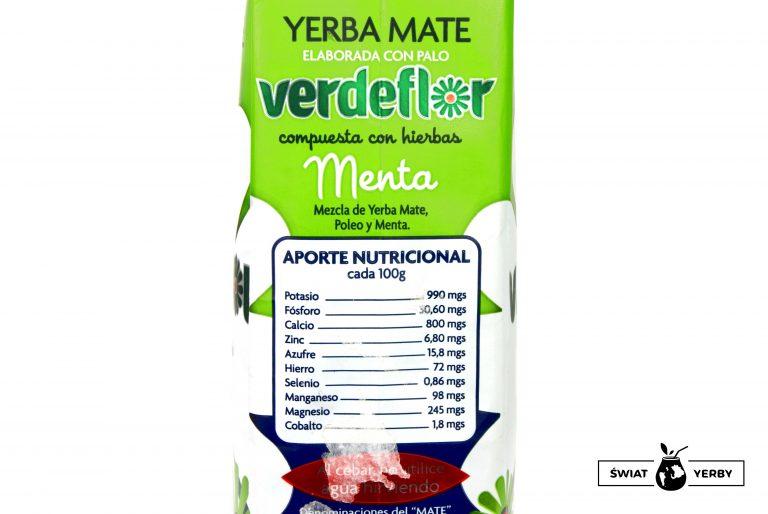 Verdeflor Menta tabela wartości odżywczych