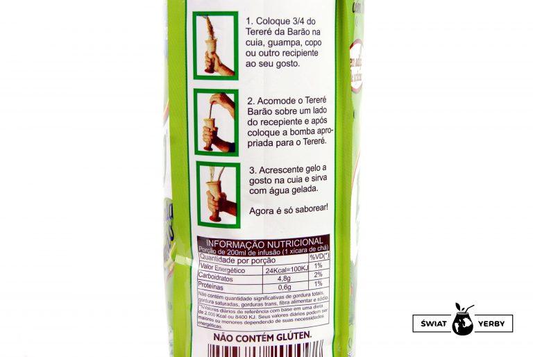 Barao terere fresh menta limao przygotowanie itabela wartosci odzywczych