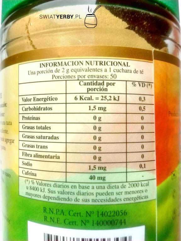 Wartości odżywcze w2g Amandy Soluble