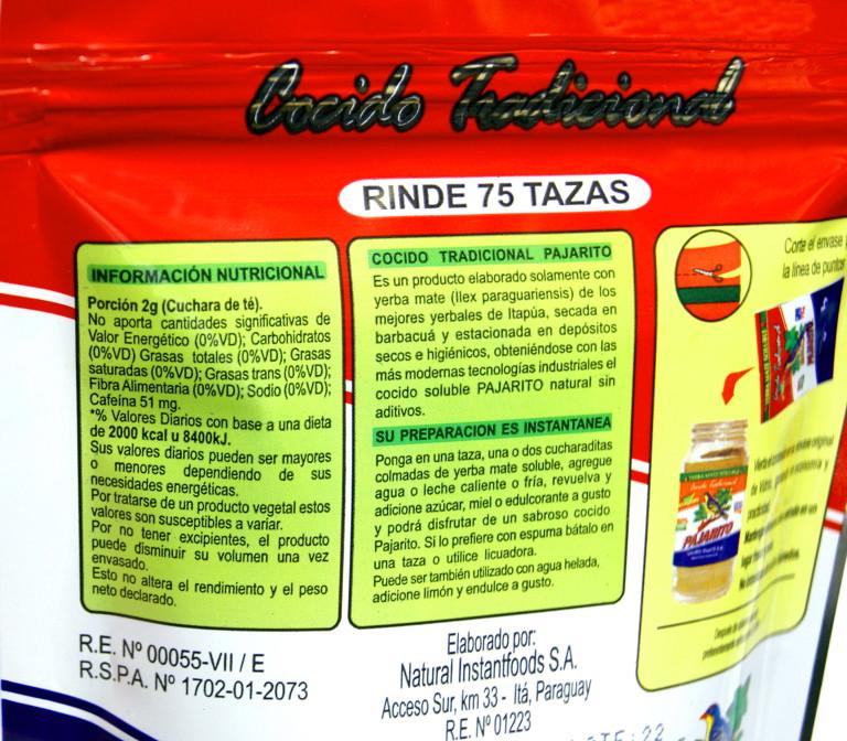 Wartości odzwycze Pajarito Cocido Tradicional
