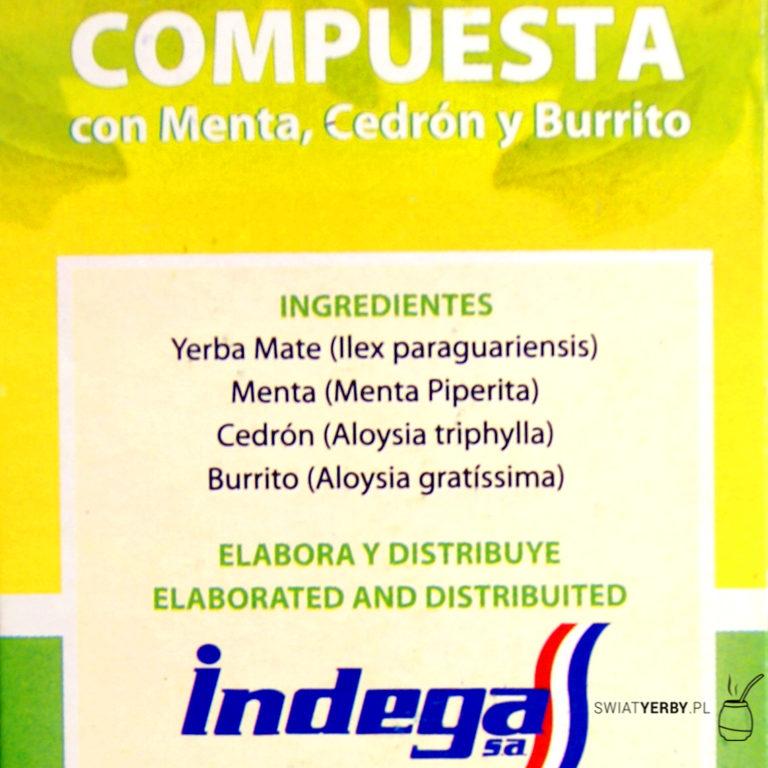 Indega compuesta natural skład