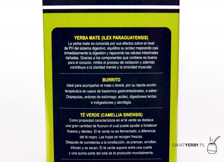 Campesino burrito and green tea opis skladu