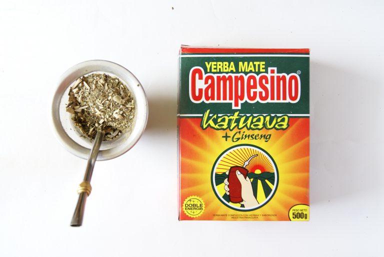 Stare opakowanie Campesino Katuava con ginseng