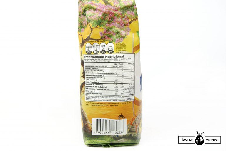 Taragui Naranja de Oriente tabela wartosci odzywczych